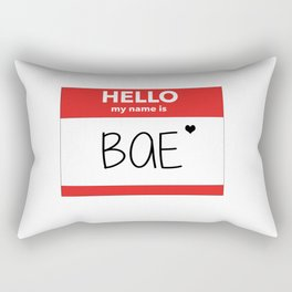 Hello My Name is Bae Rectangular Pillow
