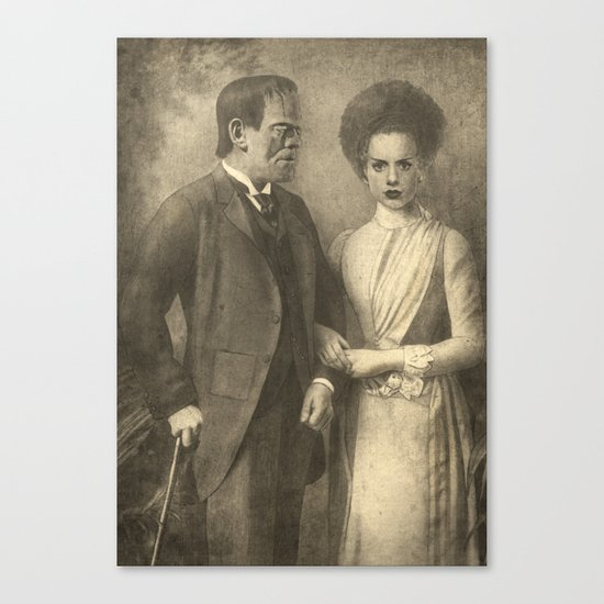 Mr. and Mrs. Frankenstein  Canvas Print