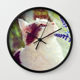Conferring With the Flowers Wall Clock