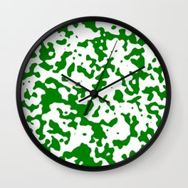 Spots - White and Green Wall Clock