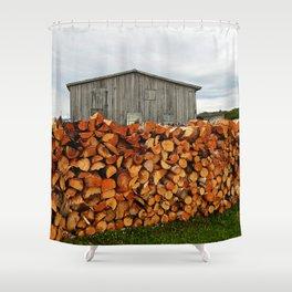 Barn and Firewood Shower Curtain