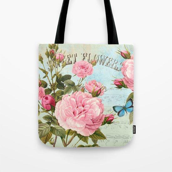 Vintage Flowers #2 Tote Bag