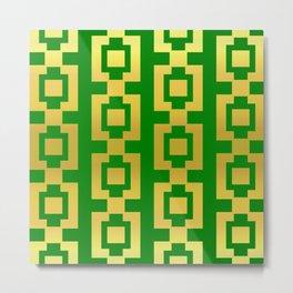 Green and gold design Metal Print