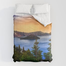 Wallpaper USA Crater Lake National Park Oregon Nature Spruce Mountains park mountain Parks Comforters