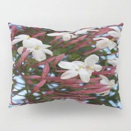 Pink Buds and Jasmine Blossom Close Up Pillow Sham
