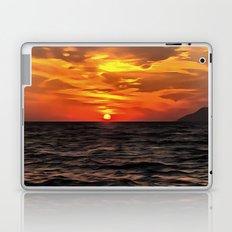 Sunset Over The Mediterranean Sea Laptop & iPad Skin