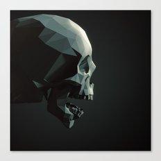 Skull roar - black Canvas Print