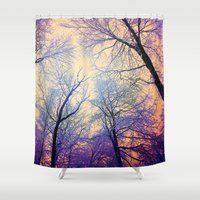 bebop Shower Curtains featuring Snow Angel's View - Nature's Painting (color 2) by soaring anchor designs