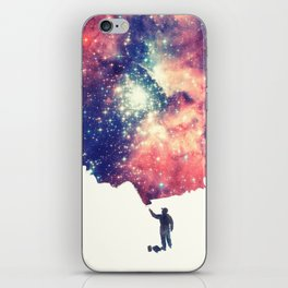 Painting the universe (Colorful Negative Space Art) iPhone Skin