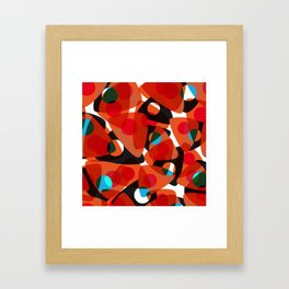 orange 70s Framed Art Print