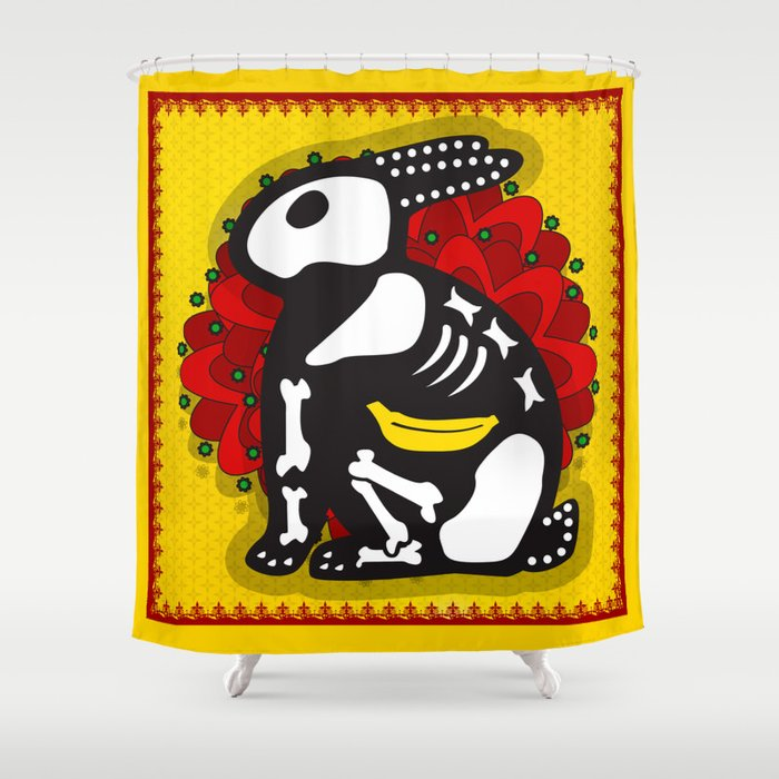 NOT SO DAY OF THE DEAD Shower Curtain
