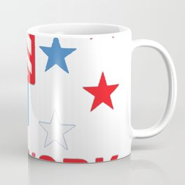 FIREWORK TECHNICIAN RED WHITE AND BLUE T-SHIRT Coffee Mug