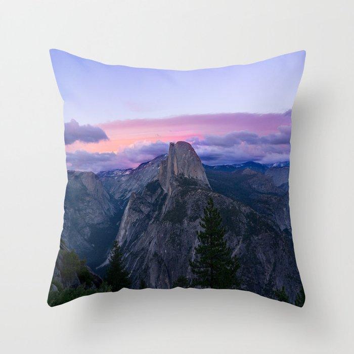 Yosemite National Park at Sunset Throw Pillow