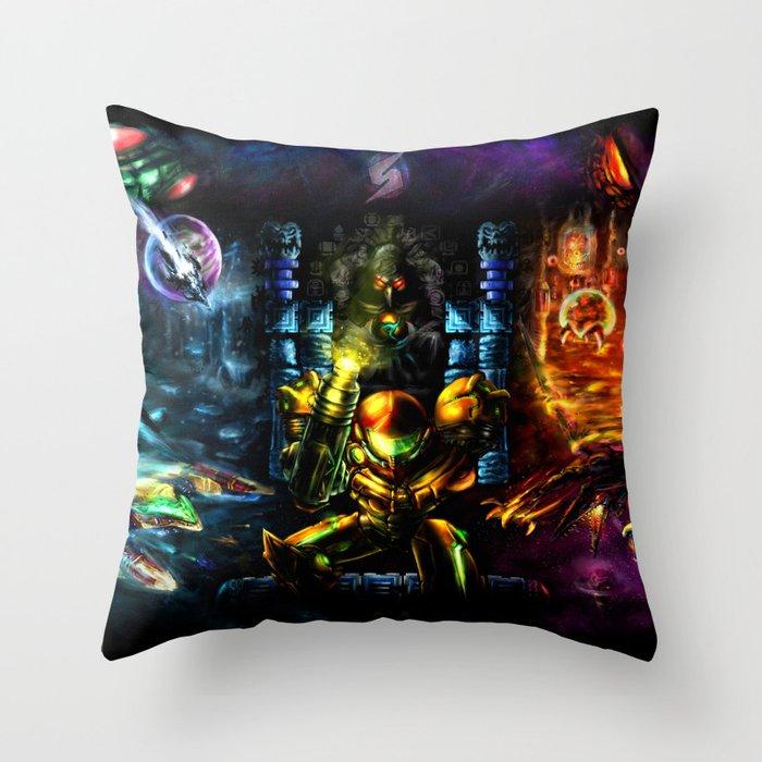 Metroid: 25 Years Throw Pillow