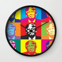 Trump Presidential Pop Art Wall Clock