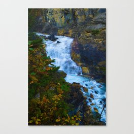 White Falls along the Berg Lake Trail in BC Canvas Print
