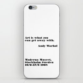 art is what you can - andy quote iPhone Skin