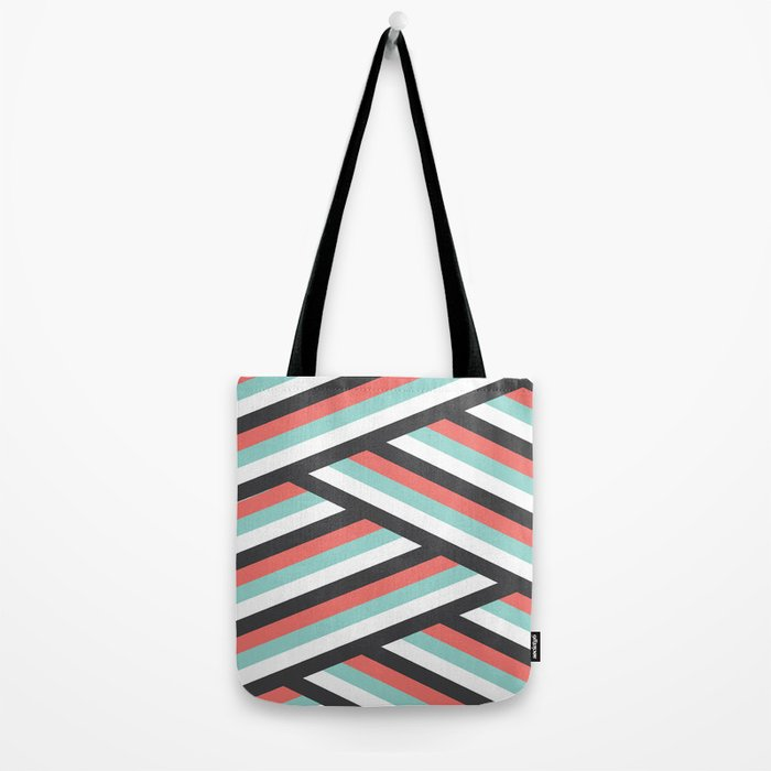 Abstract Teal and Coral  Tote Bag
