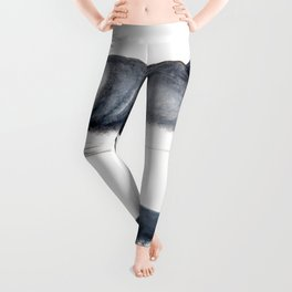 Minke whale with baby whale Leggings