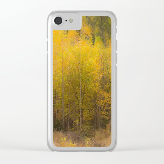 Fall color forest Clear iPhone Case