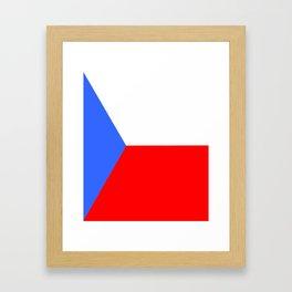 flag of Czech 2 -Czechia,Česko,Bohemia,Moravia, Silesia,Prague. Framed Art Print