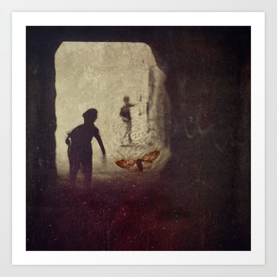 in our fading innocence Art Print