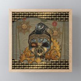 Steampunk, awesome steampunk skull with steampunk rat Framed Mini Art Print