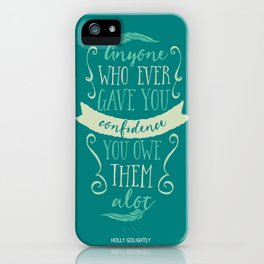Breakfast at Tiffany's Holly Golightly iPhone Case