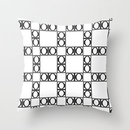 angle black & white Throw Pillow