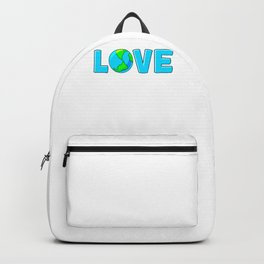 Planet Earth Love For Environment and Earth Day Backpack