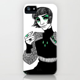 King in Green iPhone Case
