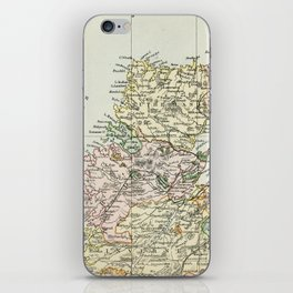 Scotland Vintage Map iPhone Skin