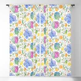 Winter Harvest Pattern Annotated Blackout Curtain
