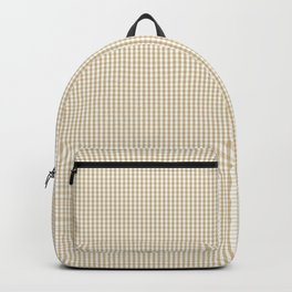 Christmas Gold Mini Gingham Check Plaid Backpack
