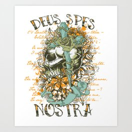 Deus Spes Nostra God is our hope Art Print