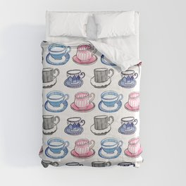 Time for Tea Vintage Pattern Comforters