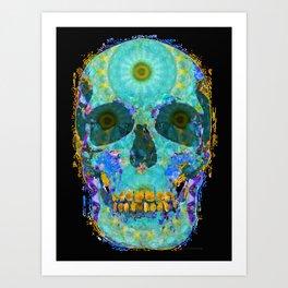 Mandala Skull Artwork - Third Eye Chakra Energy Art - Sharon Cummings Art Print
