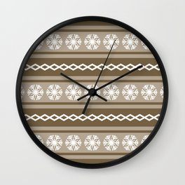 Christmas pattern 6 Wall Clock