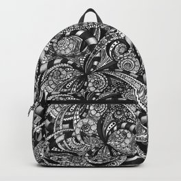 Drawing Floral Zentangle G6 Backpack