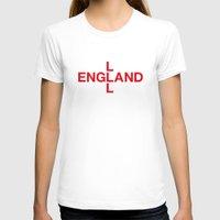 england T-shirts featuring ENGLAND by eyesblau
