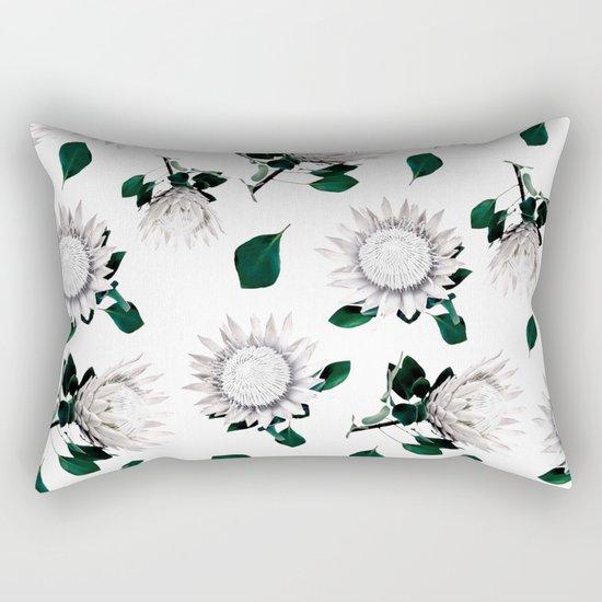 Protea Floral Pattern Rectangular Pillow