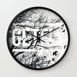 Get fly photographic art print Wall Clock