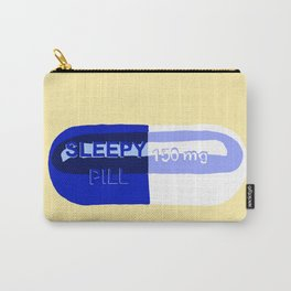 Sleepy Pill Yellow Carry-All Pouch