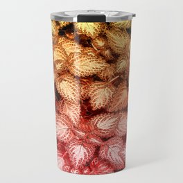 Lovely Leaves, in Red and Gold Travel Mug