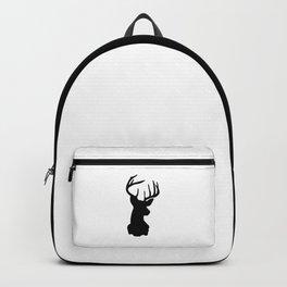 Black & White Stag Head Backpack