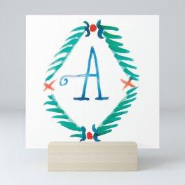 A - Wreath Alphabet Mini Art Print