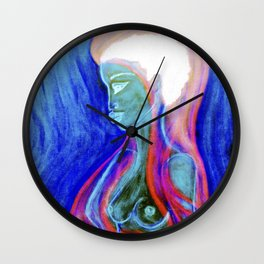 Soul Healer Blue Wall Clock