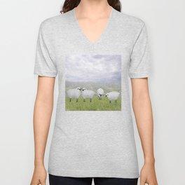 sheep and chicory Unisex V-Neck
