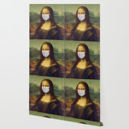 Mona Lisa with Respirator Mask Wallpaper