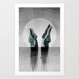 Experimental - Strange Waters Art Print